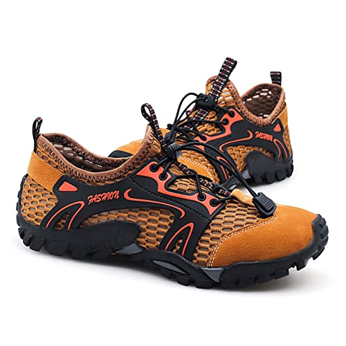 370e081d58d25 Buy SKDOIUL Mens Mesh Hiking Shoes Breathable Water Shoes Trekking ...