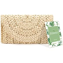 ae130eb2f Straw Clutch Handbag, JOSEKO Women Straw Purse Envelope Bag Wallet Summer  Beach Bag