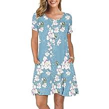 a9fde1d2d KORSIS Women's Summer Casual T Shirt Dresses Short Sleeve Swing Dress  with